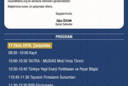 MÜSİAD-TAİTRA MoU Anlaşması imza Töreni